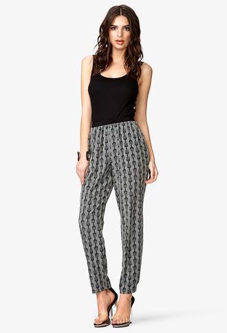 pants boho cheeky brown black match tribal pattern high waisted model heels clubwear hipster