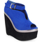 Womens ladies ankle faux suede peeptoe platform high heel wedges shoes boots 3-8 | ebay
