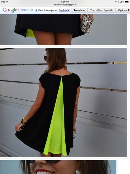 dress neon dress