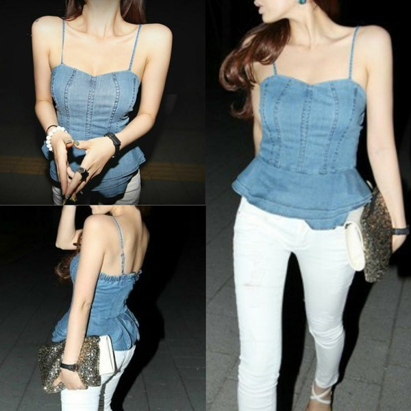 shirt i4out open back jeans shirt jeans tops look lookbook fashion clothes clothes jeans swag streetstyle denim denim crop top