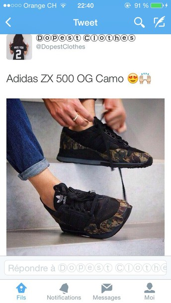 shoes adidas zx 500 camouflage adidas zx 500 og camo beige militaire