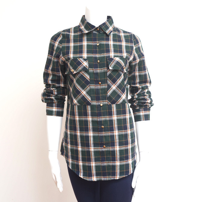 Saucy Plaid Button Up Green Ed. | Affordable Junior Clothing & Plus Sized Dresses | Shimmer