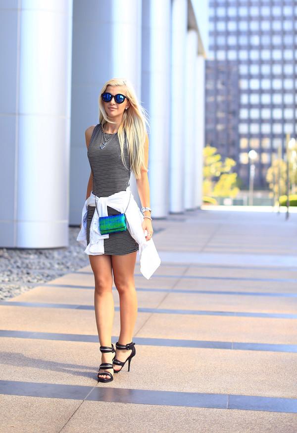 evelinas fashion cafe jeans shoes bag sunglasses jewels dress shirt