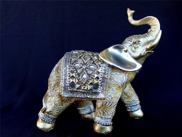 jewels elephant figurine gems home decor sculpture ornament