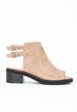 shoes open toes peep toe brown sandals sandales camel summer heels