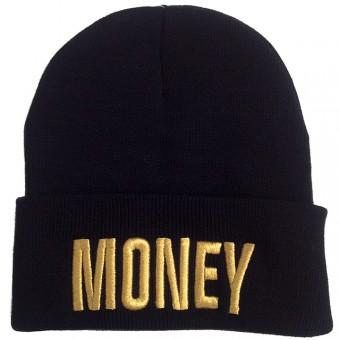 Money Beanie Black Gold