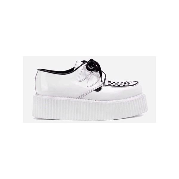 shoes white creepers platforma double sole flatforms cute grunge soft grunge pastel pastel goth goth fashion tumblr stylish find on tumblr
