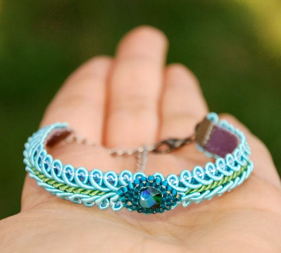 Soutache Bracelet Friendship wrap bracelet Ethnic by MyFantasies