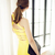 Yellow Sexy Halter Bandage Dress H493$99