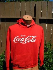 Buyosphere — Jerzees vtg 1970 Red Coca Cola Hoody Sweatshirt from privatescreeningseattle.com