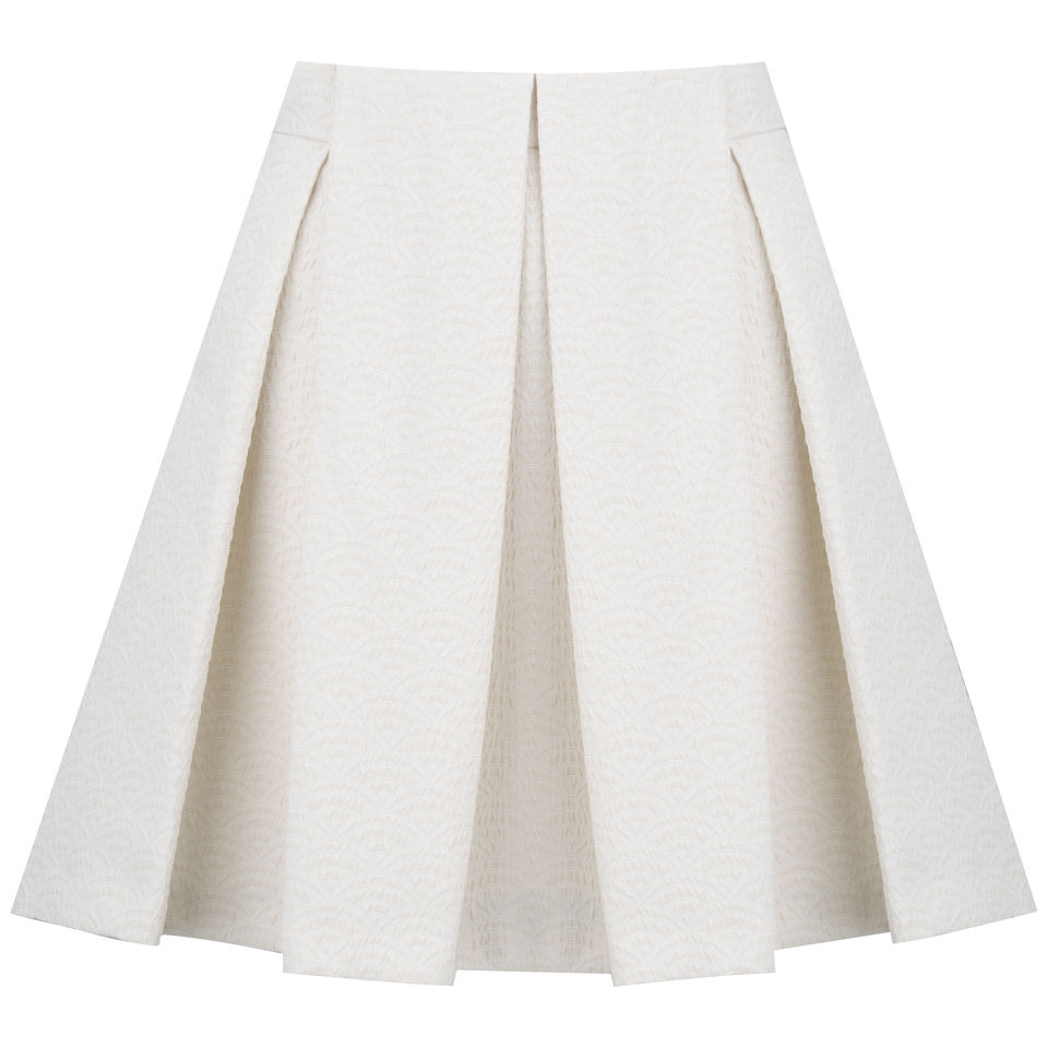 See by Chloe Women's Neon Crinkled Jacquard Skirt - Cream 					Womens Clothing - Free UK Delivery over £50