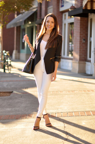 hapa time blogger jacket top bag jewels blazer
