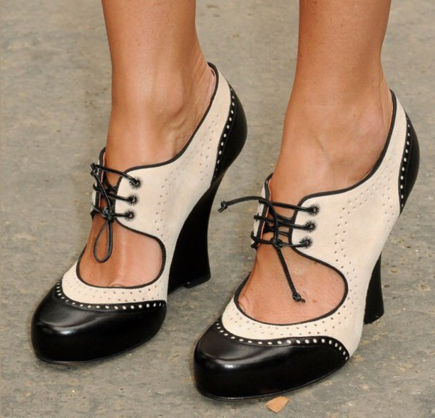 shoes oxford wedges