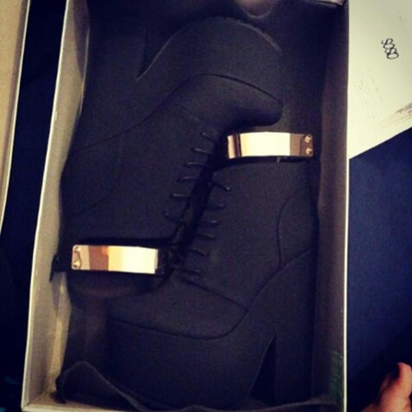 shoes black plateaua plateau platform shoes gold