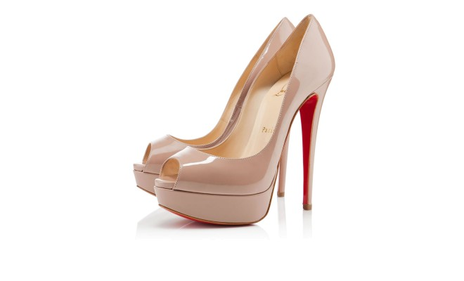 LADY PEEP PATENT 150 mm, Patent Leather, nude,  platforms, womens shoes