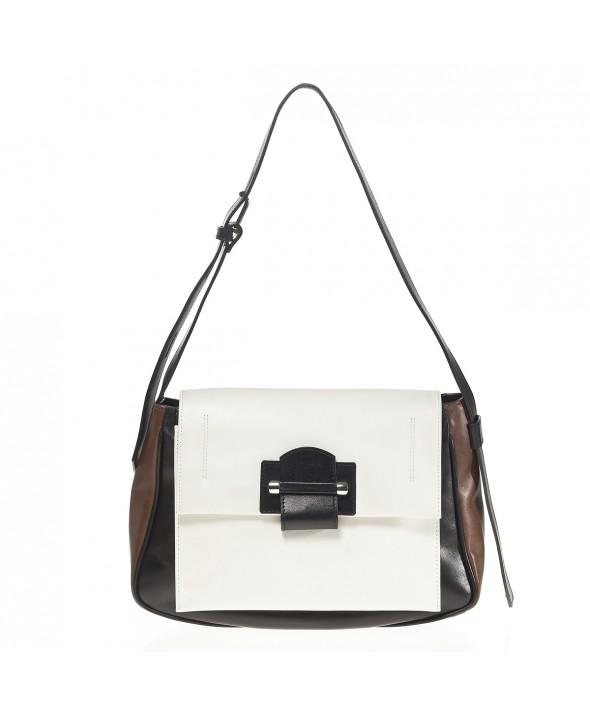Cadence Shoulder Bag, White - Joanna Maxham