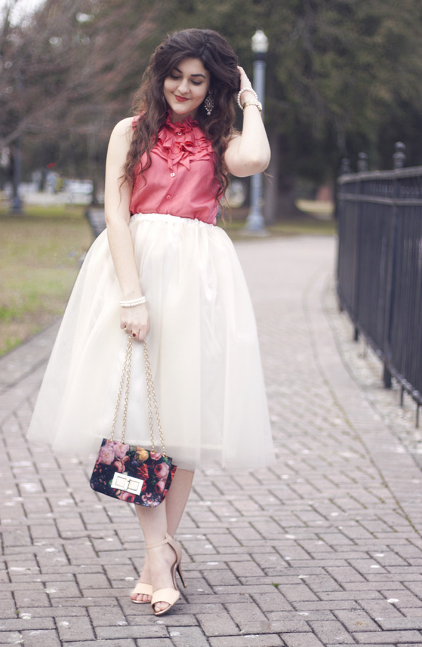 a walk in the park blouse skirt shoes bag