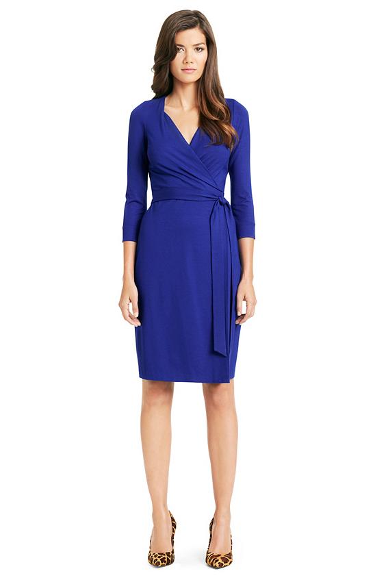 New Julian Two Jersey Wrap Dress   Dresses by DVF