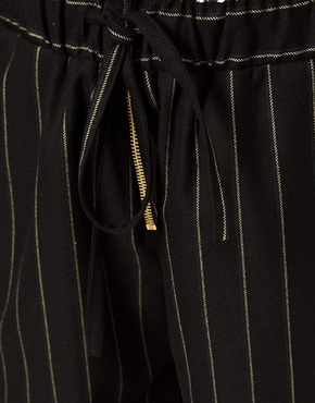 ASOS   ASOS Trousers in Soft Touch Pinstripe at ASOS