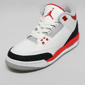 Jordan III 'Fire Red' Junior on Wanelo