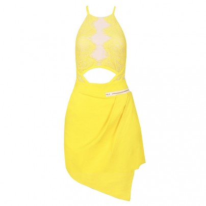 Yellow Lace Dress - HerJunction.com
