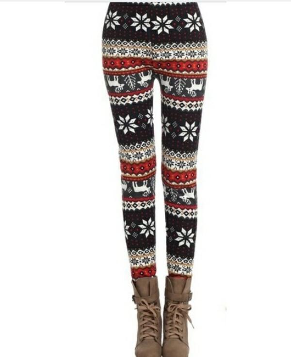 pants snowflake leggings