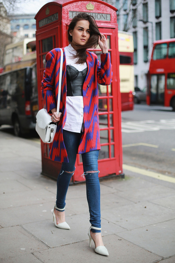 style scrapbook jeans shirt coat shoes bag