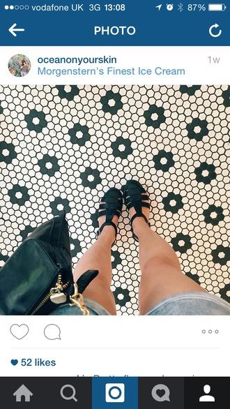 shoes sandals black low heel