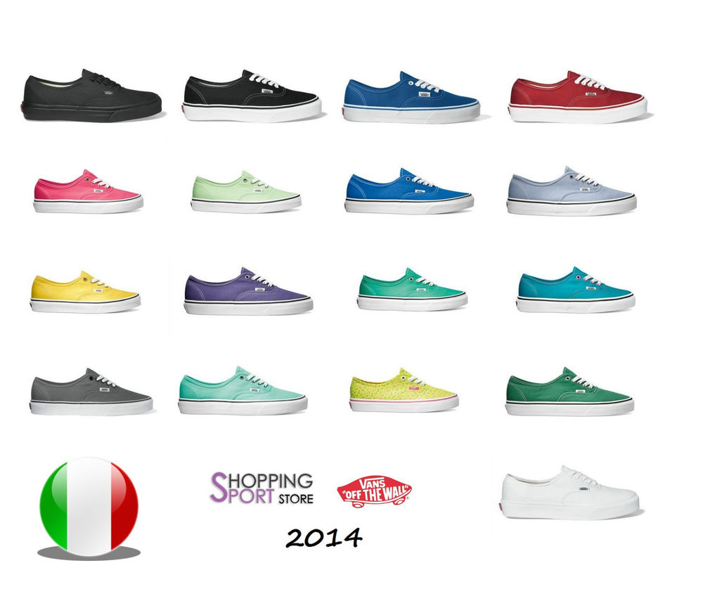 Scarpe Vans Authentic Basse Tutti I Colori Low Canvas New Collection 2014 | eBay
