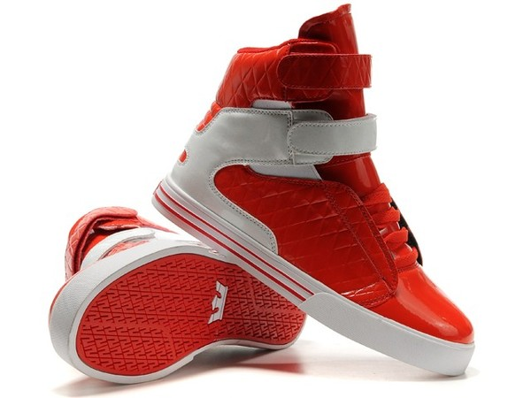 shoes supra red and white supras