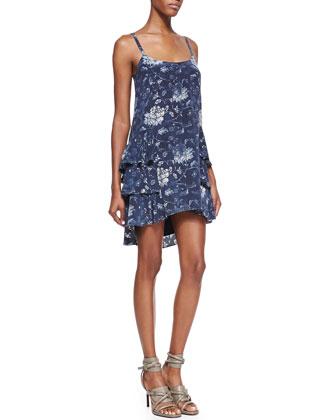 Pam & Gela Stevie Faded-Print Canvas Dress