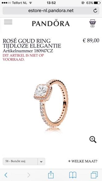 jewels ring pandora rose gold