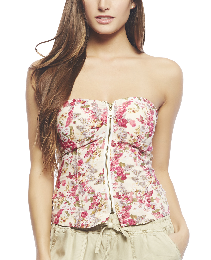 Floral Corset Tube Top  | Wet Seal