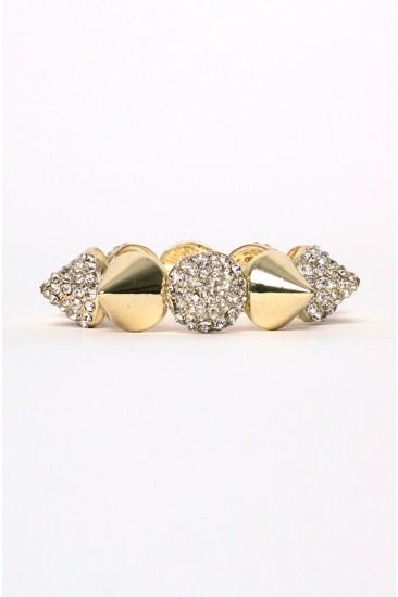 OMG Spike Bracelet GOLD from Love Melrose