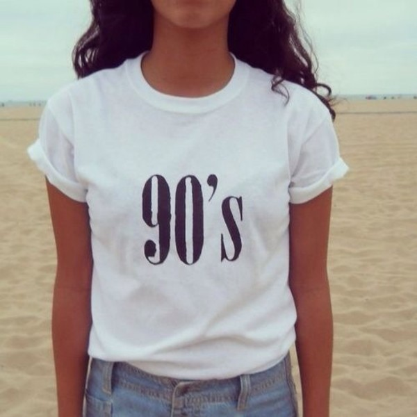 shirt old vintage 90s style t-shirt white t-shirt 90s style white t-shirt