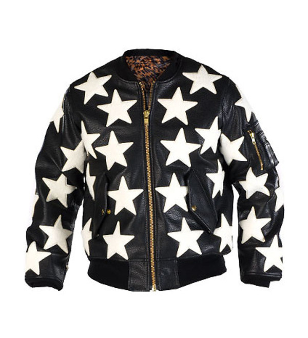 jacket stars swag fashion leather