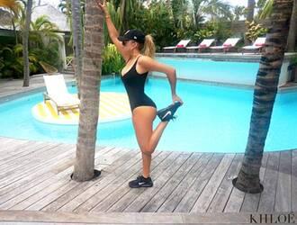 swimwear khloe kardashian one piece swimsuit