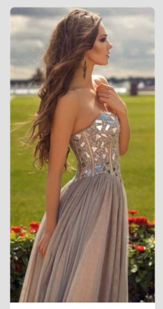 dress clothes prom dress prom dress gorgeous dress long prom dress grey dress dress prom tumblr sequin dress prom gown gown brown dress bejeweled dress triangle greek goddess barbie inspired sweetheart prom  dress beaded detailed tulle skirt homecoming formal chamagne purple strapless embroidered