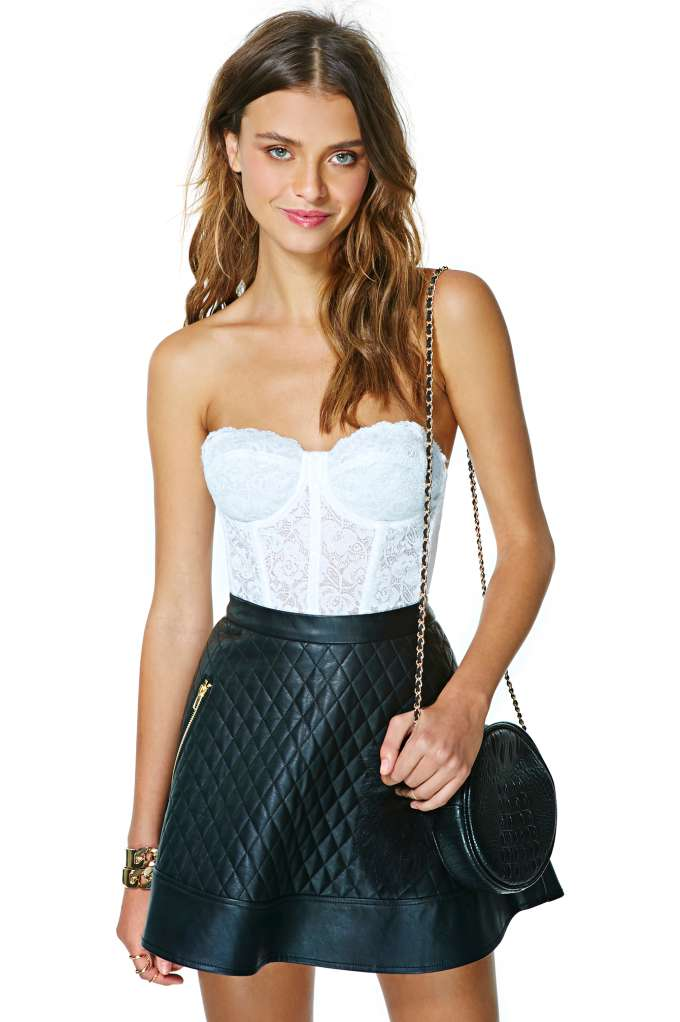 Erotica Lace Bustier - White at Nasty Gal