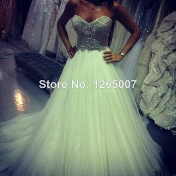 Aliexpress.com : Buy Deep V Neck Golden Lace Sequins Ruffles Mint Green Open Back Mesh Back Cut Out Long Fashion Dress Special Occasion Dress from Reliable dress couture suppliers on SFBridal