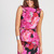 Pink Floral Dress - Pink Floral Printed Peplum Dress | UsTrendy