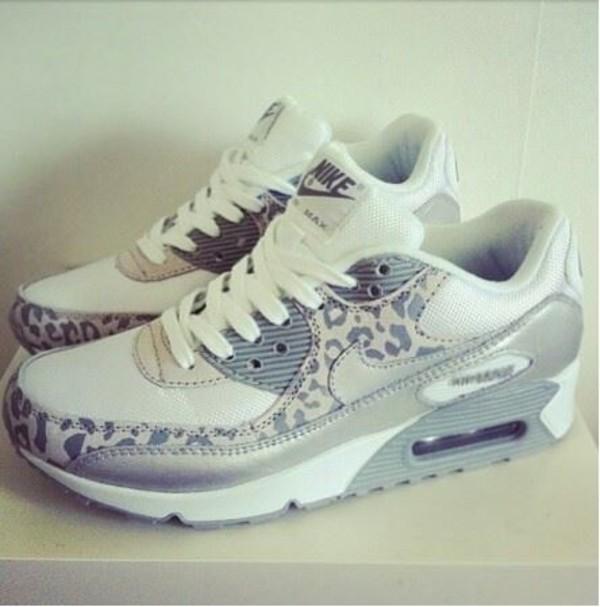 leopard nikes nike air max 90 nike nike sneakers shoes air max grey sneakers