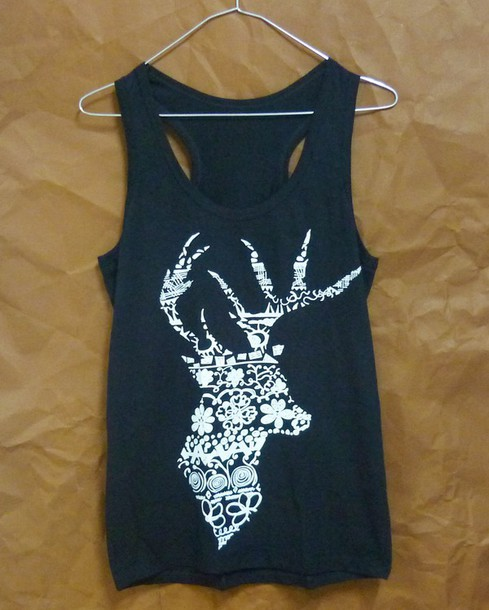 top singlet sleeveless top animal tank top women clothing racerback clothes