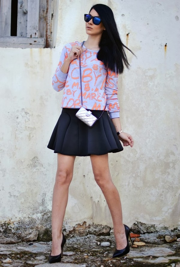 serial klother blouse skirt bag shoes