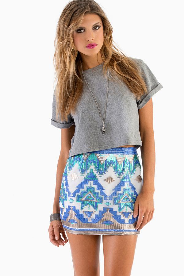 Glitz Bodycon Skirt - Tobi