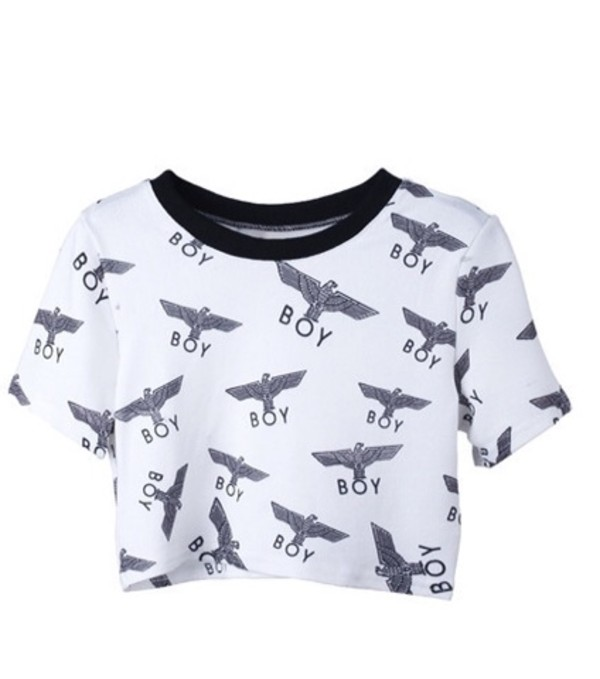 t-shirt boy london crop tops