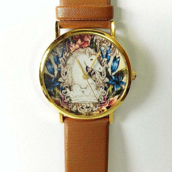 Vintage Horse Watch  Vintage Style Leather Watch by FreeForme