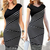 Sheath V Neck Knee Length Blends Bodycon Dresses : KissChic.com