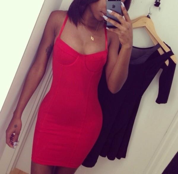 dress red dress short
