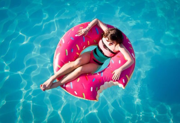 swimwear swimwear water pink donut top